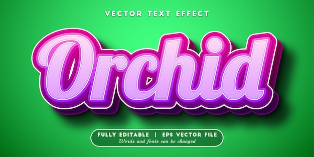 Orchid text effect with editable text style