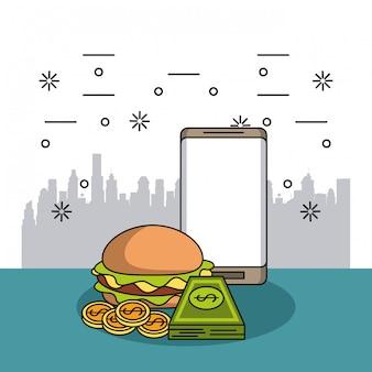 食品の注文と配送