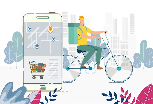 Order delivery anywhere food basket via mobile app