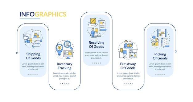 Order delivery infographic template illustration