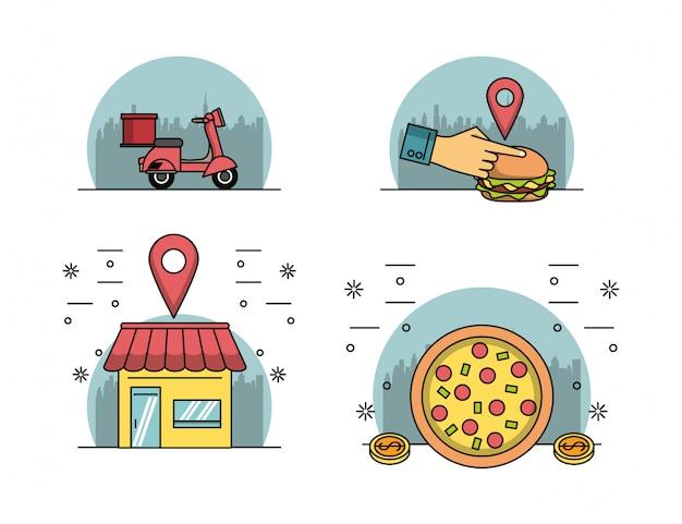 オンラインで食品を注文する