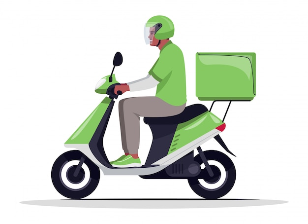 Order home delivery semi  rgb color  illustration