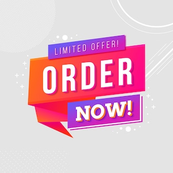 Order now banner concept