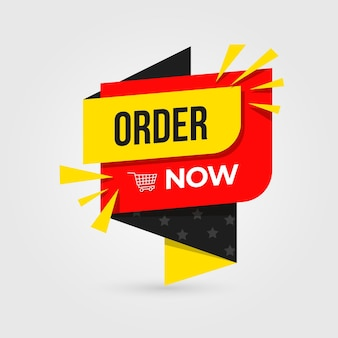 Order now banner template