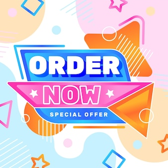 Order now banner