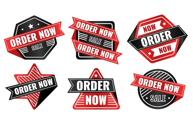 Order now label collection