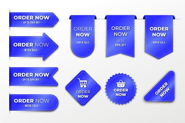 Заказать сейчас - коллекция этикеток