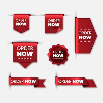 Order now label selection