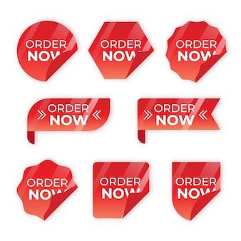 Order now label set