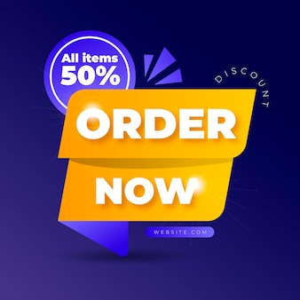 Order now offer banner with discount
