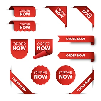 Order now promo labels