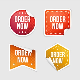 Order now promo stickers