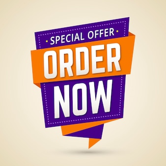 Order now promotional banner