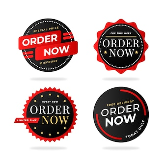 Order now special offer sticker collection
