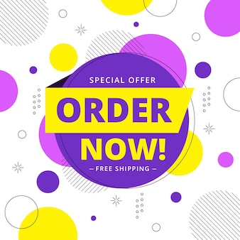 Order now square banner