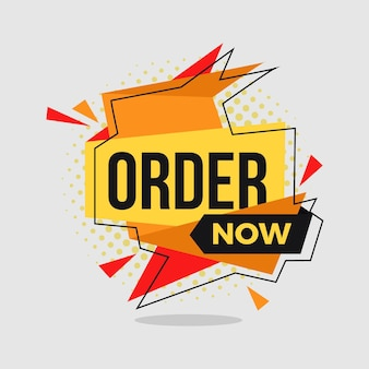 Order now squared banner