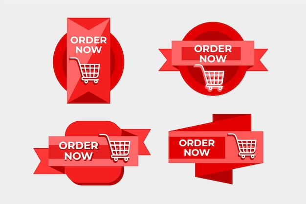 Order now sticker collection