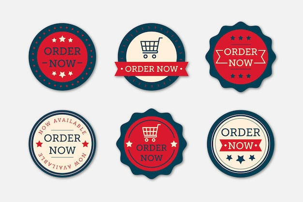 Order now sticker pack