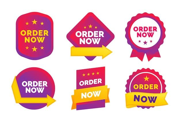 Order now sticker set