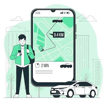 Order rideconcept illustration