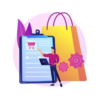 注文追跡プログラム、便利なサービス。ショッピングリスト、バスケットコンテンツ、購入パッケージ。モバイルソフトウェア、スマートフォンアプリケーション。