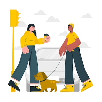 Иллюстрация концепции обычного дня
