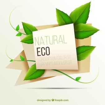 Organic 3d origami banner