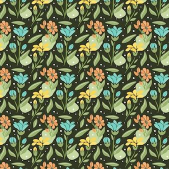 유기 추상 꽃 패턴