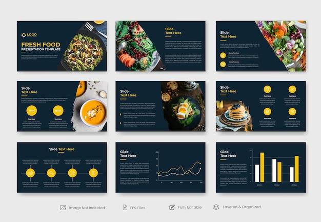 유기농 및 신선한 식품 프레젠테이션 템플릿