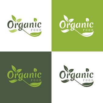 유기 및 자연 로고 템플릿.