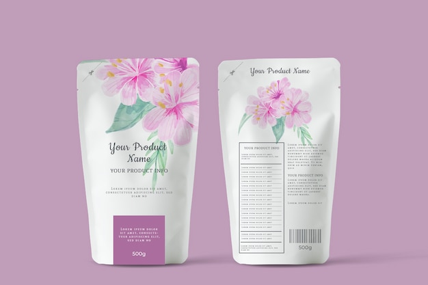 Organic blooming flowers tea advertising