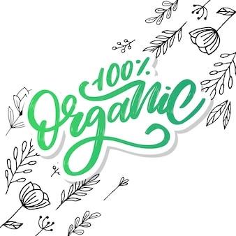 Organic brush  lettering