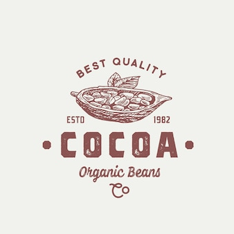 Логотип органических какао-бобов
