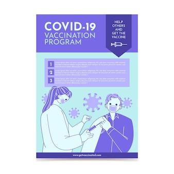 Volantino di vaccinazione contro il coronavirus biologico