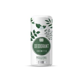Organic cosmetic brand template packaging