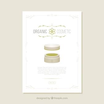 Organic cosmetic brochure