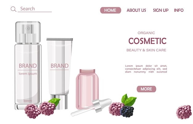 Organic cosmetic products site template
