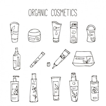 Organic cosmetics collection