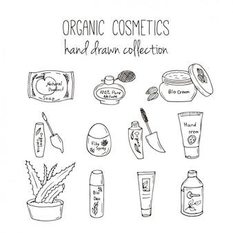 オーガニック化粧品のコレクション