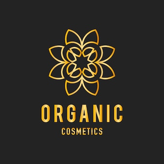 Organic cosmetics design logo vector