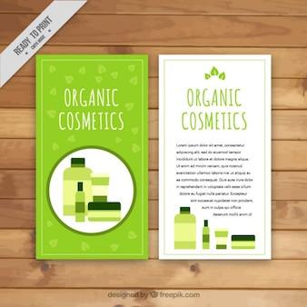 Organic cosmetics, hand drawn