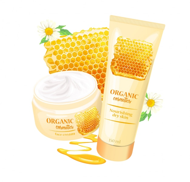 Organic cosmetics product with strawberries