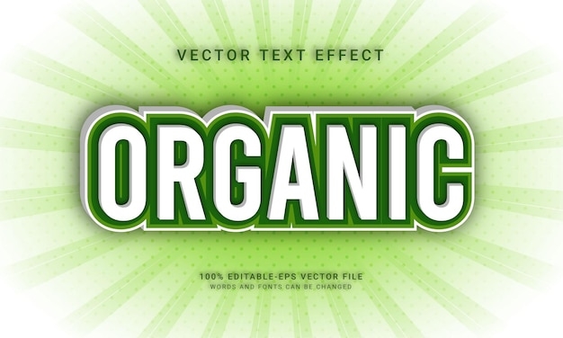 Organic editable text effect with natural fresh theme