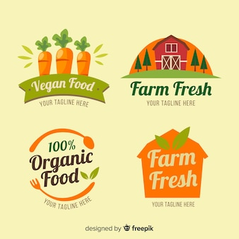 Organic farm label pack