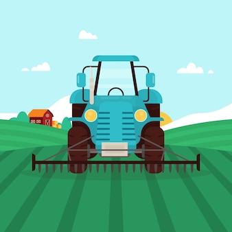 Organic farming concept illustration