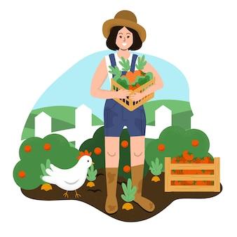 Organic farming concept