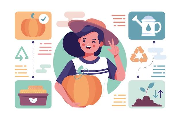 Organic farming illustration concept