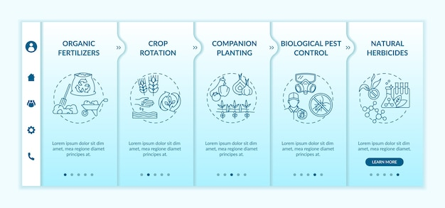 유기 농업 원칙 온 보딩 템플릿