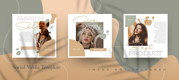 Organic fashion sale instagram post template