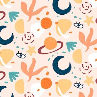 Organic flat abstract element pattern